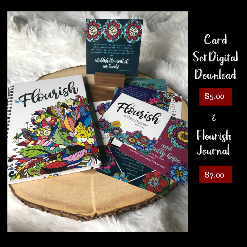 Journal and Cards <br>Flourish in Your Present